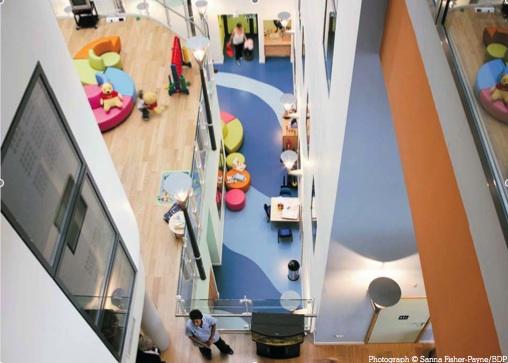 Cork Oak Flooring in the Central Atrium